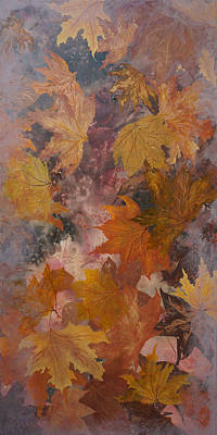 Forest Floor Painting - Leaves by Emily Magone