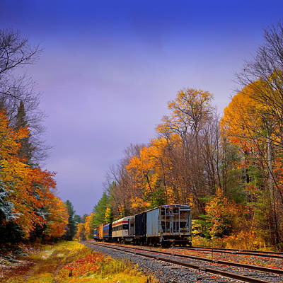 Railroads Photograph - Leaving Fall Behind by David Patterson