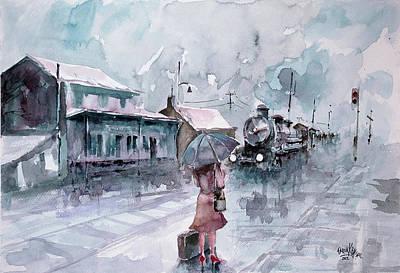 Leaving... Print by Faruk Koksal