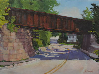 Maine Roads Painting - Leaving Hallowell by Bill Tomsa