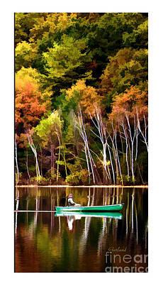 Leaving Lake Transition One Third Print by Garland Johnson