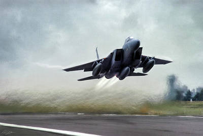 F-15 Digital Art - Leaving The Nest by Peter Chilelli