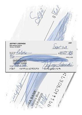 Lebowski's Check Print by Filippo B