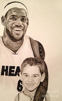 Lebron James Painting - Lebron And Carter by Tamir Barkan