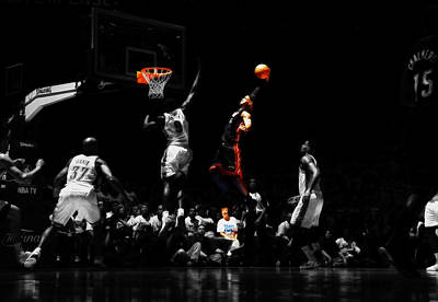 Lebron James Witness Print by Brian Reaves