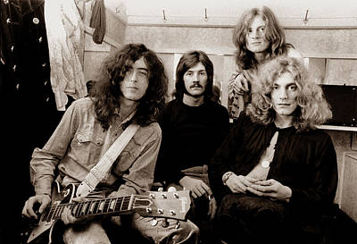 Lead Photograph - Led Zeppelin 1969 by Chris Walter