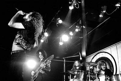 Led Zeppelin 1972 Print by Chris Walter