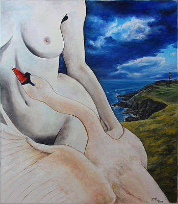 Leda And The Swan Original by Kateryna Danchuk