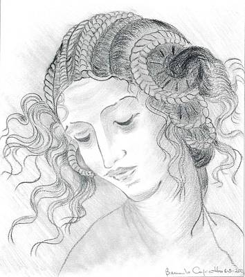 Leda Of Leonardo Da Vinci Original by Bernardo Capicotto