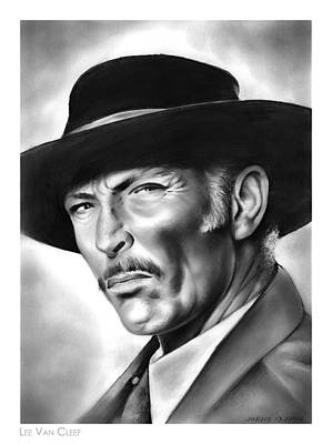 Piercing Drawing - Lee Van Cleef by Greg Joens