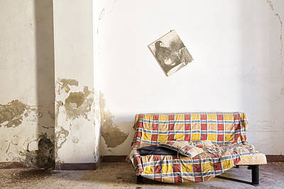 Empty Chairs Photograph - Left Behind Sofa  - Abandoned Building by Dirk Ercken