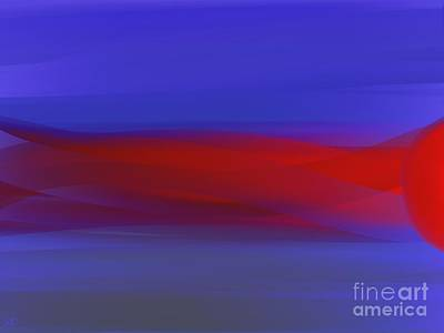 Sun Rays Digital Art - Left Of Sunset by Roxy Riou