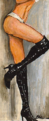 Margot Painting - Legs 4 Days by Nic The Artist