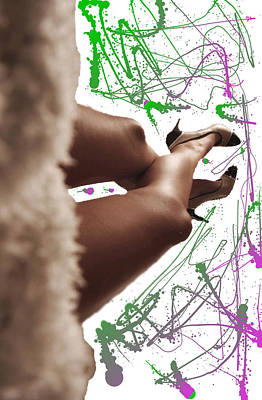 Shoe Digital Art - Legs And Art by Britten Adams