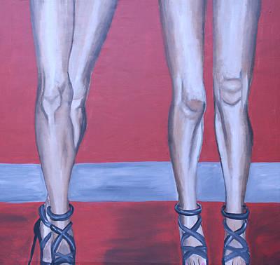 Stillettos Painting - Legs II by Mikayla Ziegler