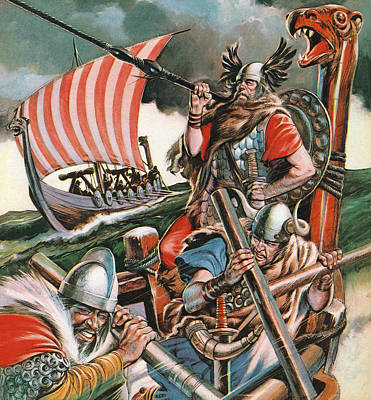 Invade Painting - Leif Ericsson, The Viking Who Found America by Peter Jackson