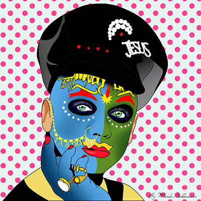 Shirt Digital Art - Leigh Bowery 2 by Mark Ashkenazi