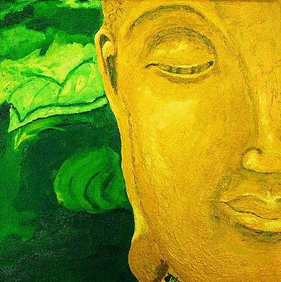 Tibetan Buddhism Painting - Lemon Buddha by Nick Young