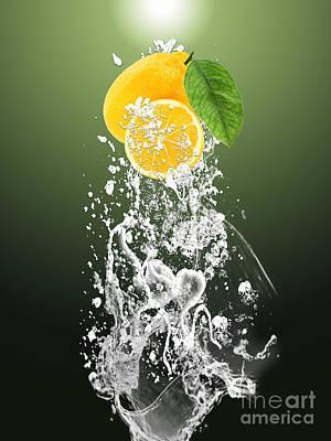 Lemons Mixed Media - Lemon Splast by Marvin Blaine