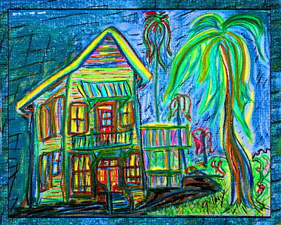 Key West Painting - Lemon St. House by W Gilroy