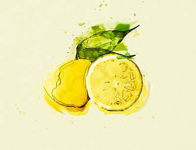 Sour Mixed Media - Lemon by Stockr