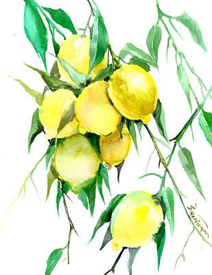 Lemon Drawing - Lemon Tree by Suren Nersisyan