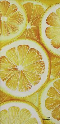Lemon Mixed Media - Lemons by Kayleigh Semeniuk