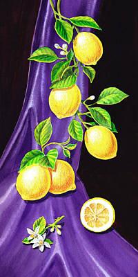 Dining Room Italian Painting - Lemons Of Sorrento by Irina Sztukowski