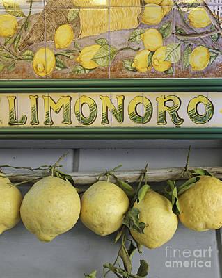 Lemons Of Sorrento Print by Tony Craddock