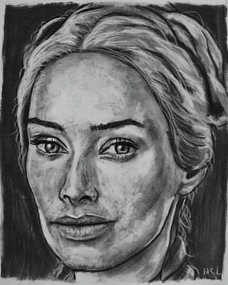Cersei Drawing - Lena Headey As Cersei Lannister by Harrison Larsen