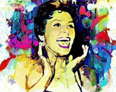 Ev-in Digital Art - Lena Horne by Lynda Payton