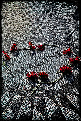 Strawberries Digital Art - Lennon Memorial by Chris Lord