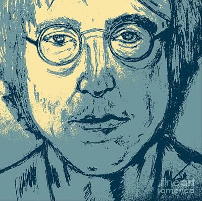 John Lennon Art Drawing - Lennon Pop Art by Collin A Clarke