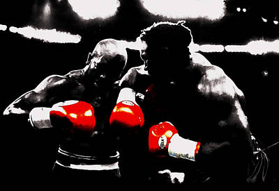 Lennox Lewis And Evander Holyfield II Print by Brian Reaves