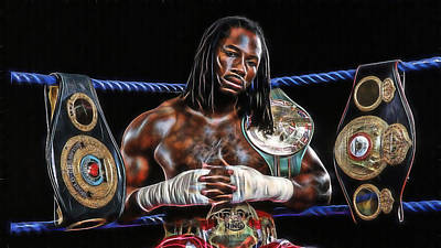 Boxer Mixed Media - Lennox Lewis Collection by Marvin Blaine