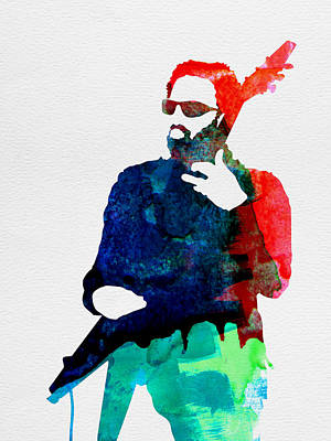 British Digital Art - Lenny Watercolor by Naxart Studio