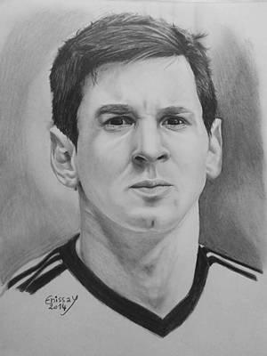 Messi Drawing - Leo Messi by Yassine Atifi