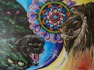 Spirit Catcher Painting - Leo The Spirit Guide by Izabella Waldo