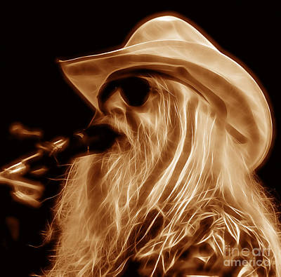 Leon Russell Collecton Print by Marvin Blaine
