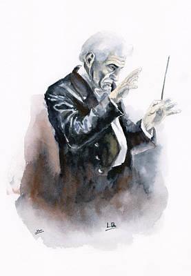 Leonard Bernstein Print by Jota Lara