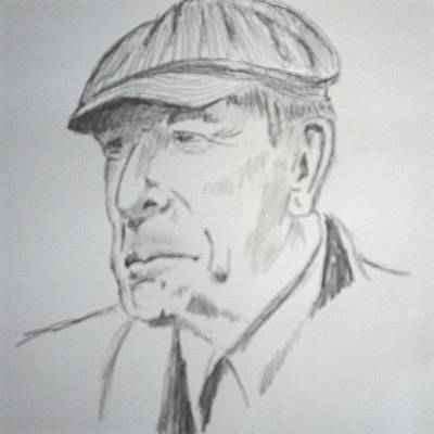 Bird On A Wire Drawing - Leonard Cohen by Heidi Vickers