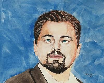 Leonardo Dicaprio  30 Minutes Watercolor Painting  Print by Edwin Alverio