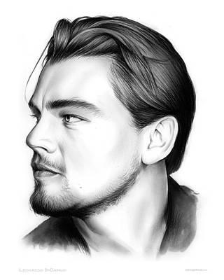 American Actor Drawing - Leonardo Dicarprio by Greg Joens
