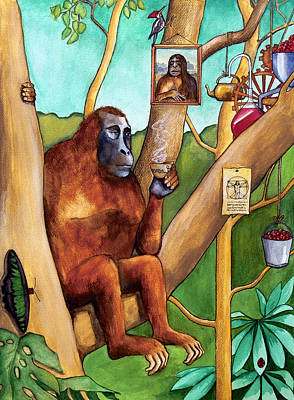 Leonardo The Orangutan Print by Robert Lacy