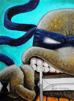 Comic Books Painting - Leonardo Unleashed by Al  Molina