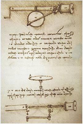 Leonardo's Automatic Bobbin Winder Print by Sheila Terry