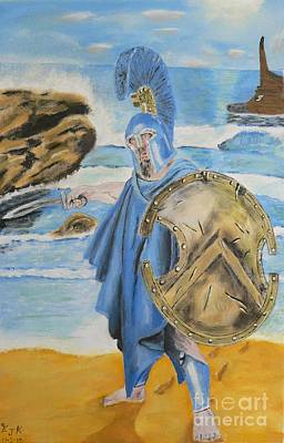 Original featuring the painting Leonidas King Of The Spartans   by Eric Kempson