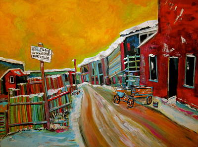 Leo's Stable Wagon Griffintown Original by Michael Litvack