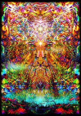 Spiritual Digital Art - Leototem by Jalai Lama