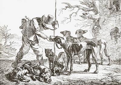 Les Chiens By Pieter Van Laer. A Hunter Print by Vintage Design Pics